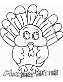 Manners Matter- turkey coloring page