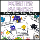 Manners Monster Manners Learning Skills SEL Distance Learning