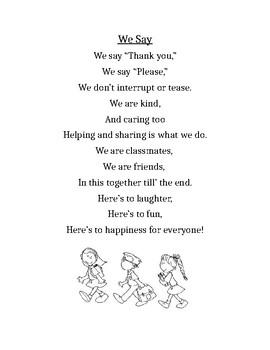 Manners Poem