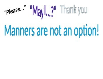 Manners Poster