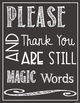 Manners Poster - FREE - White on Chalkboard