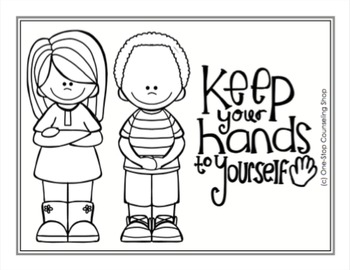 Manners & School Rules Posters & Coloring Pages