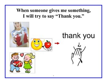 Manners/ Saying Please and Thank You Social Story
