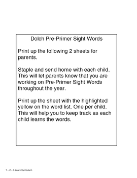 Manners - Sight Words