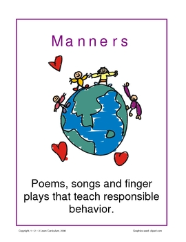Manners - Songs, Poems and Fingerplays