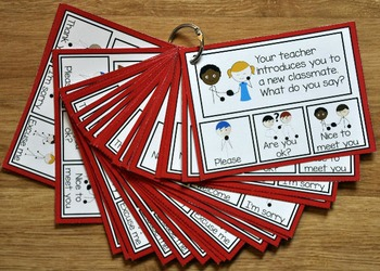 Manners Task Cards:  What Do You Say?