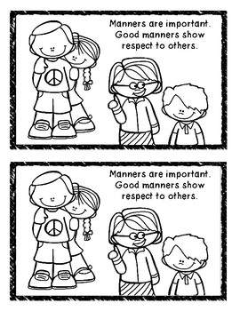 Manners With a Substitute Mini Book