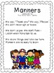 Manners - a Poem, Song, or Chant for your Little Learners