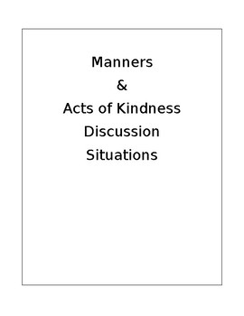 Manners and Acts of Kindness