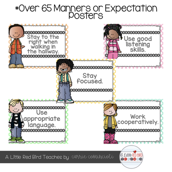 Manners and Expectations Posters {Editable}