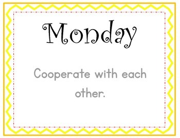 Manners and Social Skills Daily Cards