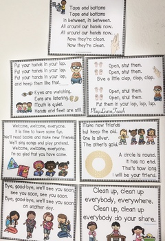 Manners and Song Posters and Booklets for Preschool