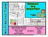 Manners are Important - Mini Preschool Theme