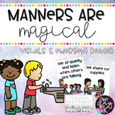 Manners are Magical: Visuals and Emergent Reader