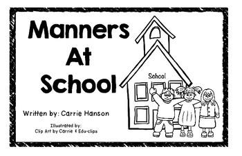 Manners at School Mini Book:  Digital Book