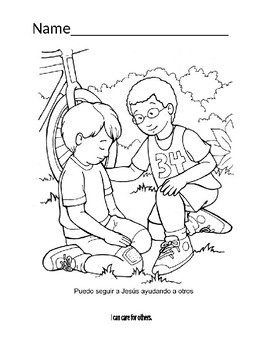 Manners coloring page