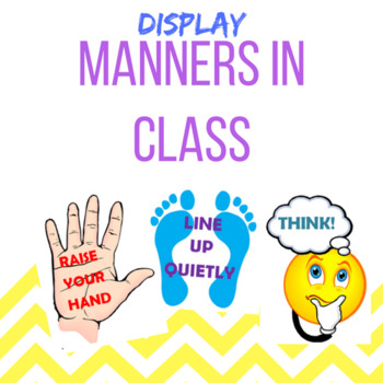 Manners in Class Display POSTERS