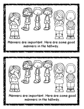 Manners in the Hallway Mini-Book