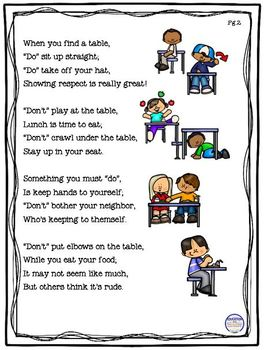 Manners in the Lunchroom Do's and Don'ts