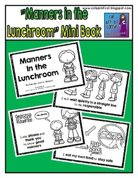 Manners in the Lunchroom Mini Book