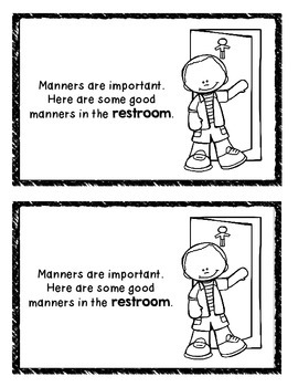 Manners in the Restroom Mini Book