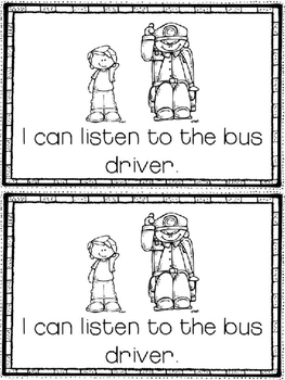 Bus Manners Book & Sorting Activity