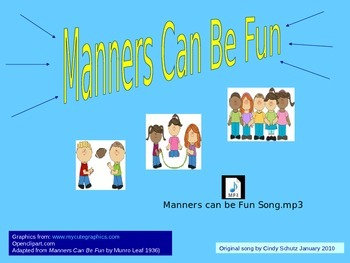 Manners (song and activities)