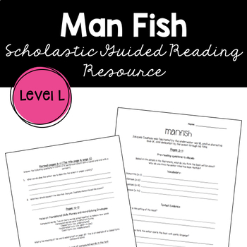 Manfish by Jennifer Berne Guided Reading Supplemental Worksheet