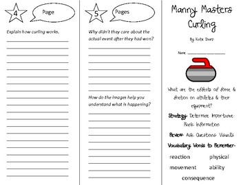 Manny Masters Curling Trifold - 5th Grade Literacy by Design Theme 12
