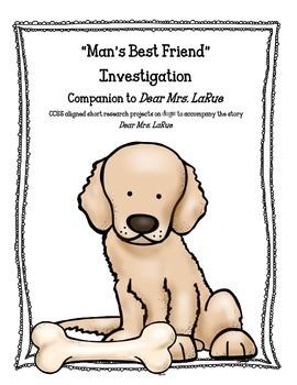 """Man's Best Friend"" Common Core Activities to Accompany Dear Mrs. LaRue"