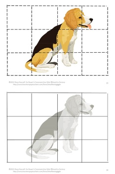 Animals Dogs  Cut and Paste Puzzles, Kindergarten, Special Education Math