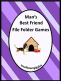 Dog Theme Math and Literacy Fine Motor File Folder Games for Kindergarten Autism