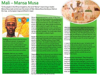 Mansa Musa African Trading Kingdoms - Bundle w/Bumper Sticker Project