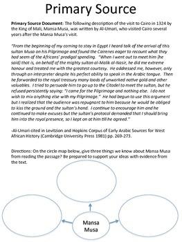 Mansa Musa DBQ Lesson