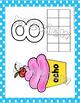 Manteles de Numeros para Play-doh, Spanish Numbers Play-doh Mats