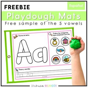 Manteles de las vocales / Spanish Vowels Play Dough Mats