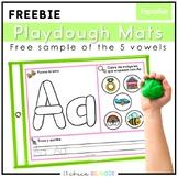 Spanish Vowels Playdough Mats