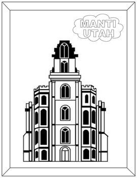 Manti Temple-black and white