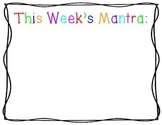 """Mantra of the Week"" Poster for the Catholic Classroom"