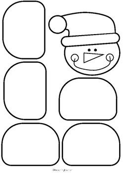 Manualidad del muñeco de nieve. Snowman craft