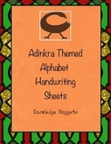 Manuscript Adinkra Themed Alphabet Handwriting Sheets