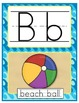 Manuscript Alphabet - Beach Theme - 8.5 x 11