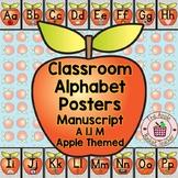 Classroom Alphabet Posters | Manuscript/Printed | Apple Themed | A 1.1 M