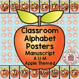 Classroom Alphabet Posters | Manuscript/Printed | Apple Th