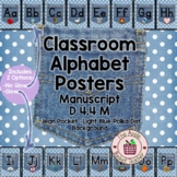 Manuscript Alphabet Line Posters Jean Pocket 1 on Polka Do