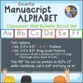 Manuscript Alphabet Wall Bulletin Board Set, colorful
