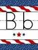 All American Manuscript Alphabet Poster