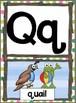 Manuscript Alphabet Posters -Frog Theme