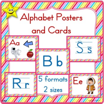 Manuscript Alphabet Posters and Cards