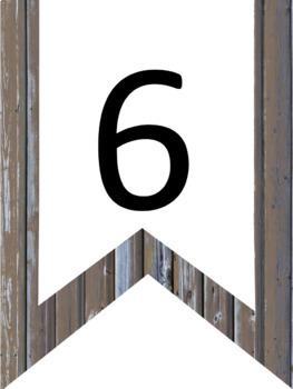 Manuscript Alphabet and Numbers Banner Boardwalk & Surf Theme